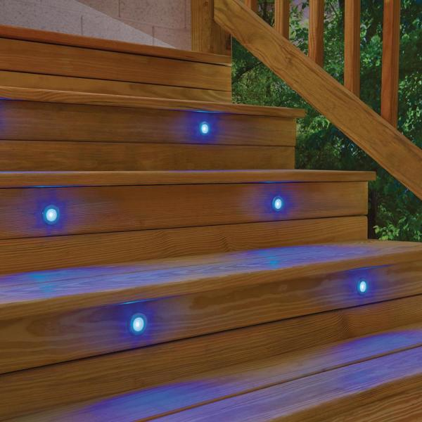 Change Things Up With Multicolored LED Step Lights