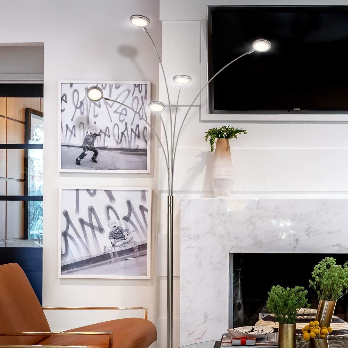 Direct Light Where You Need it With an Adjustable Arched Lamp