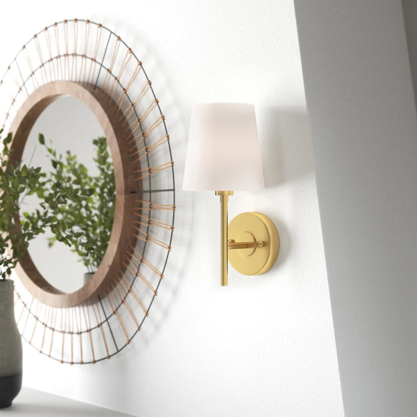 Use Dimmable Wall Sconces as an Additional Light Source
