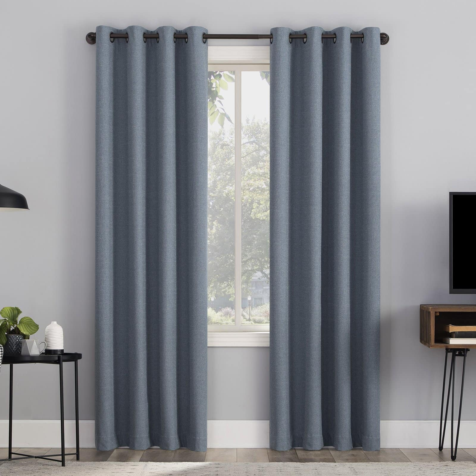 Deep Blue Thermal Curtains