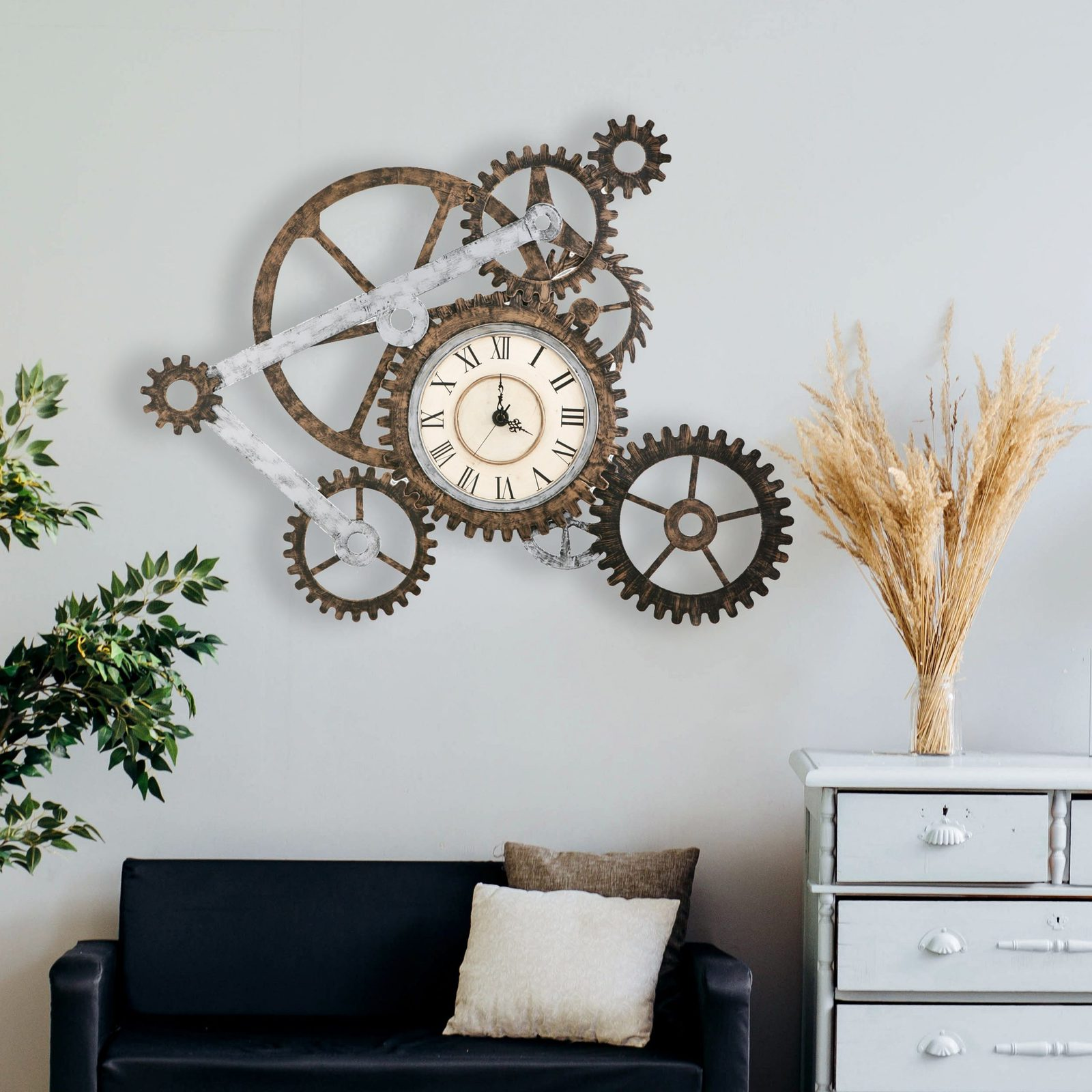 Industrial Gears Wall Clock