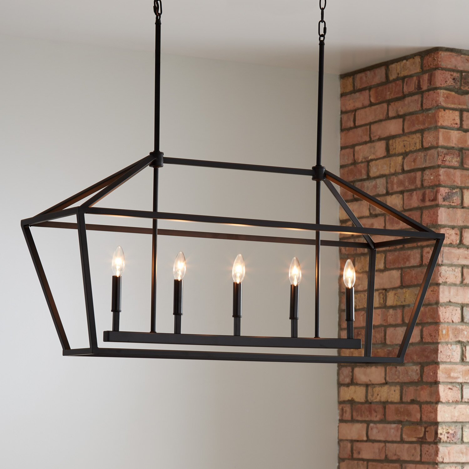 Traditional Street Lamp-Shaped Kitchen Ceiling Fixture