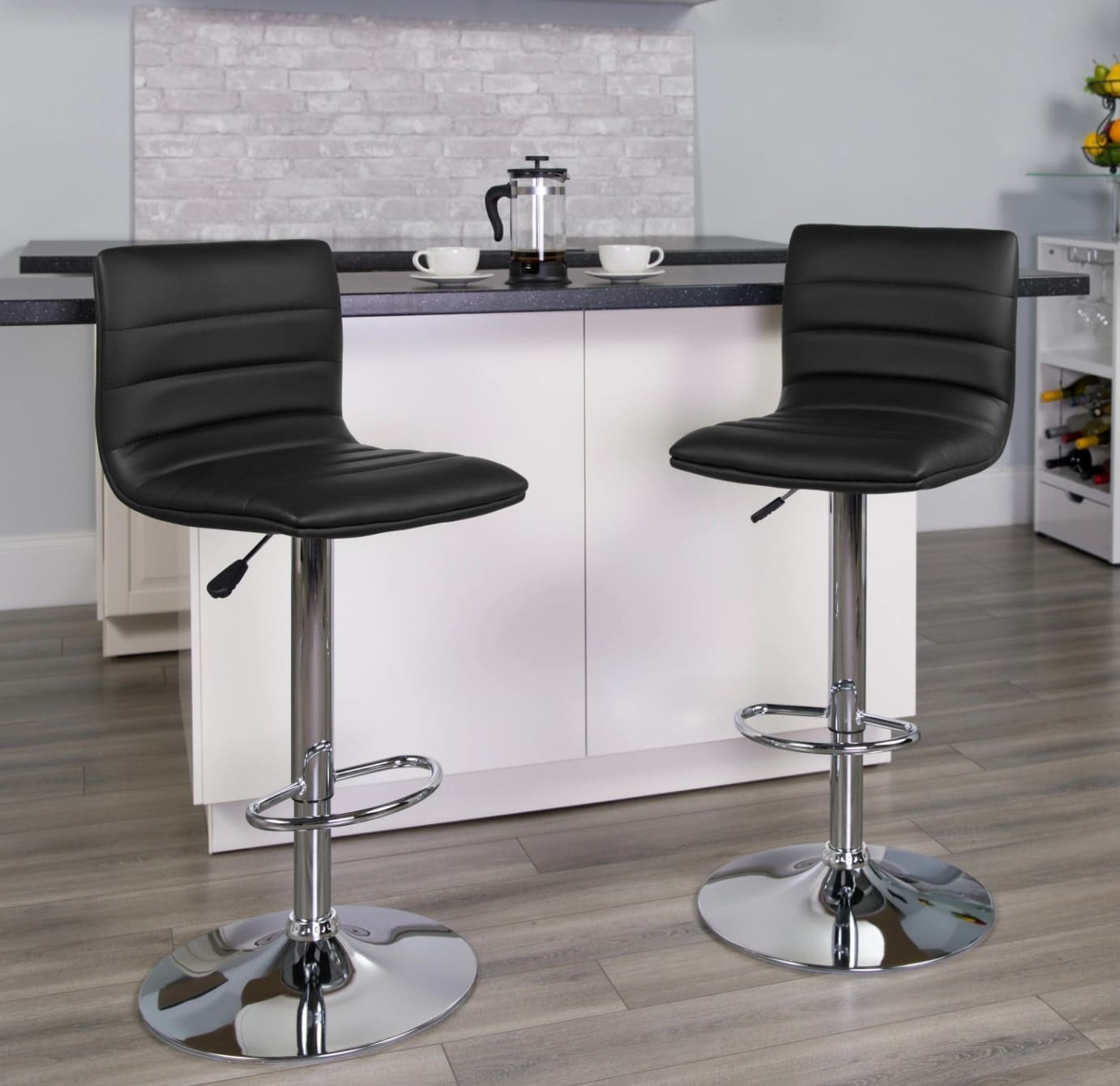 Add a Modern Flair with these Black Kitchen Island Bar Stools