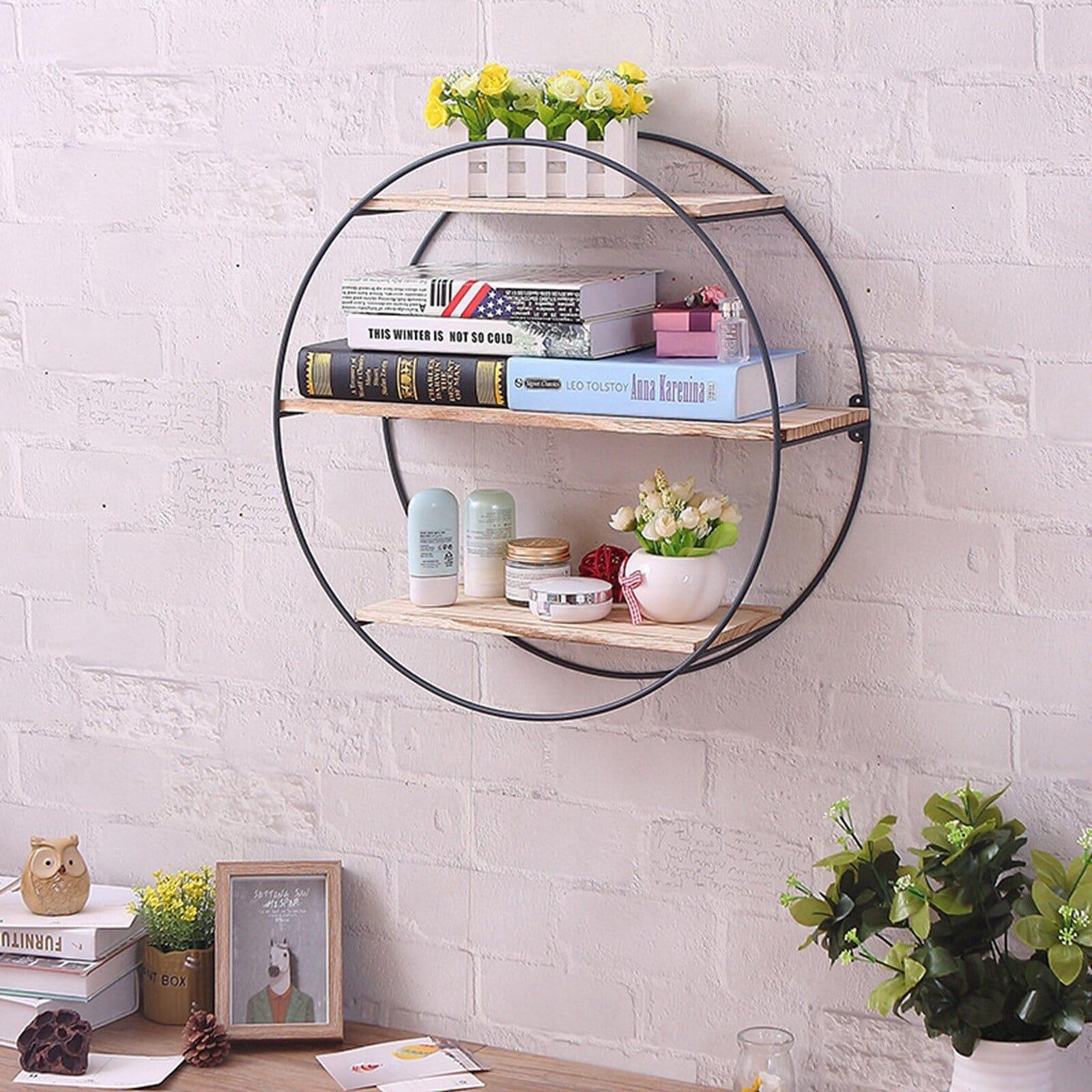 Contemporary Round Accent Shelf