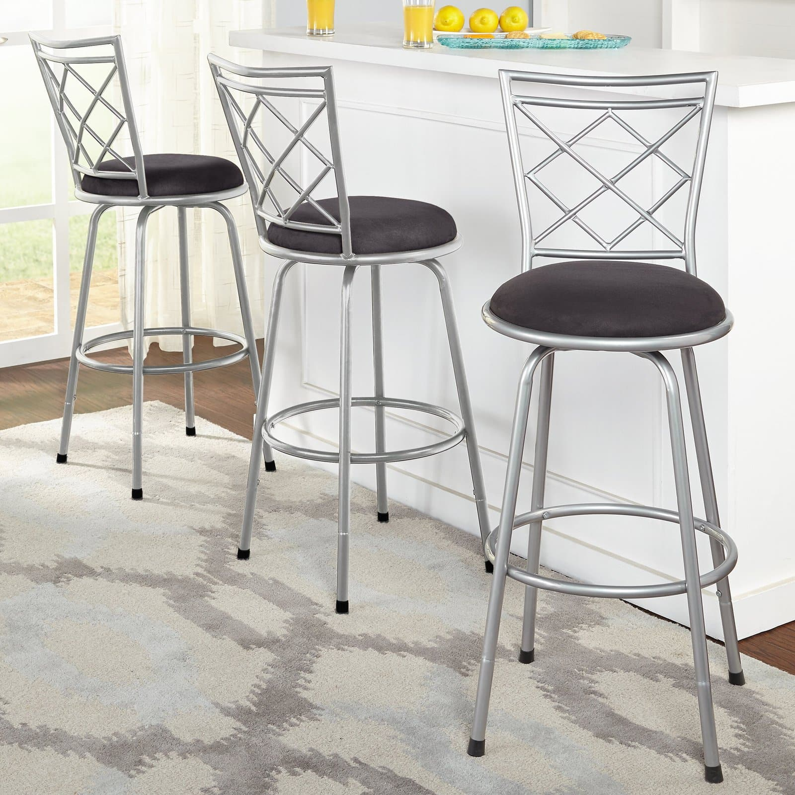 Dining Chair Style Kitchen Island Stools With Backs
