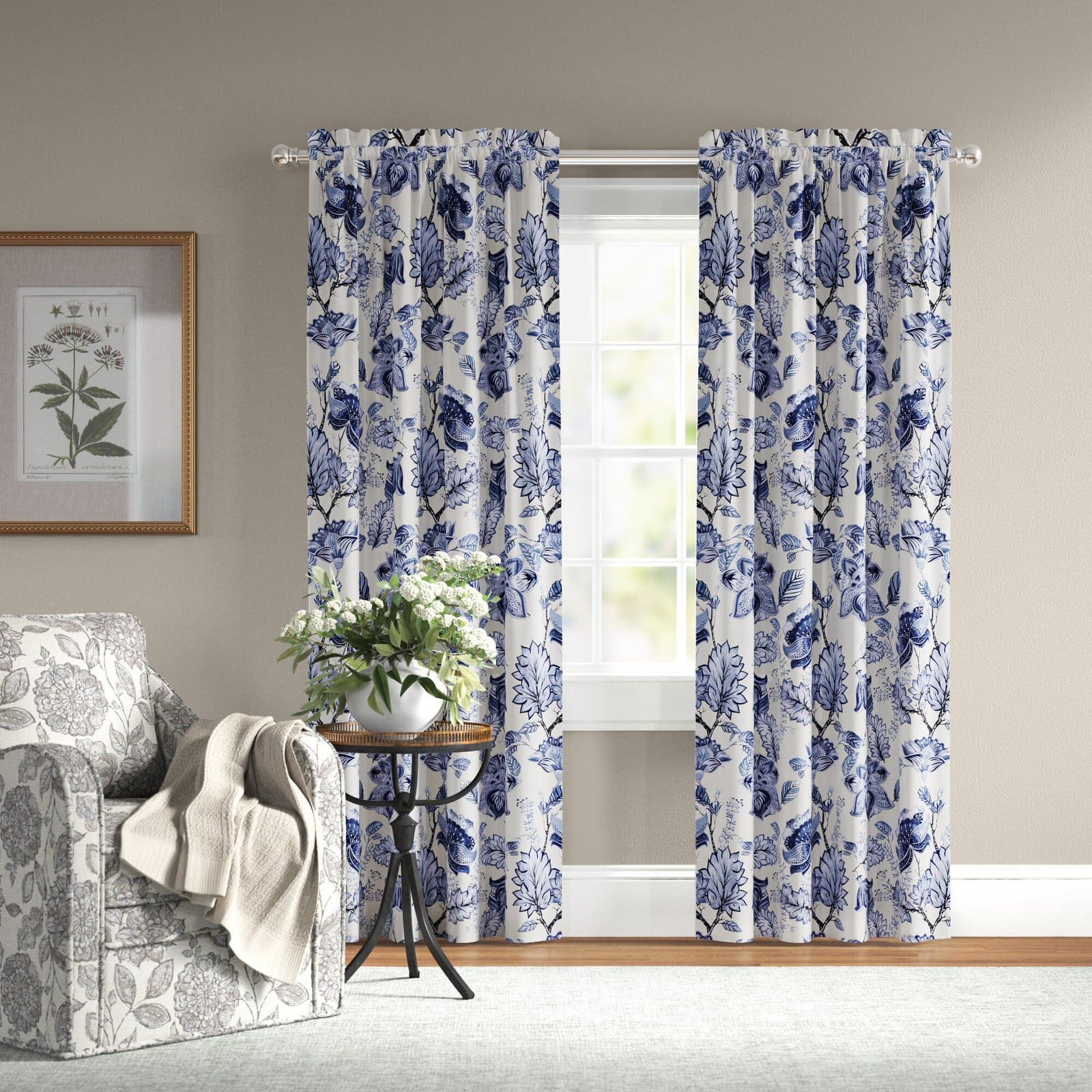 Floral Thermal Curtains