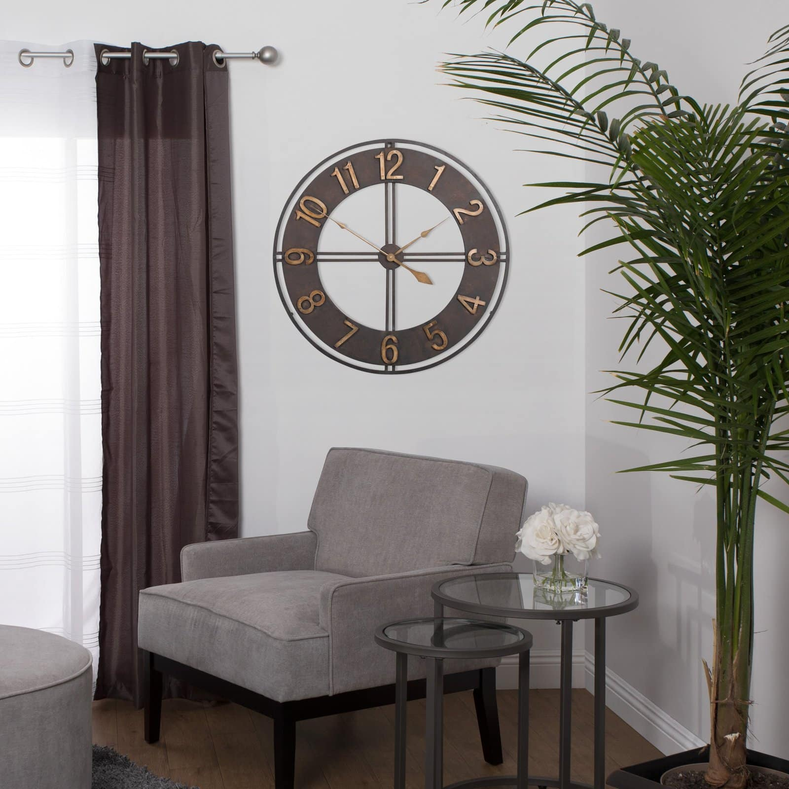Oversized Industrial Wall Clock