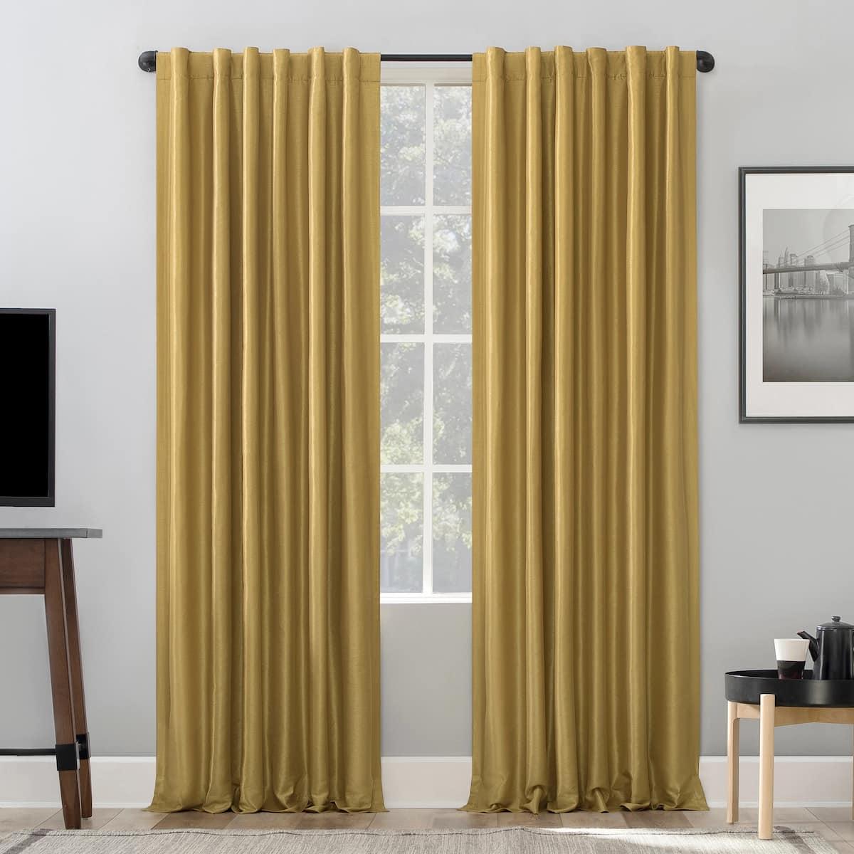 Gold Silk Blackout Curtains