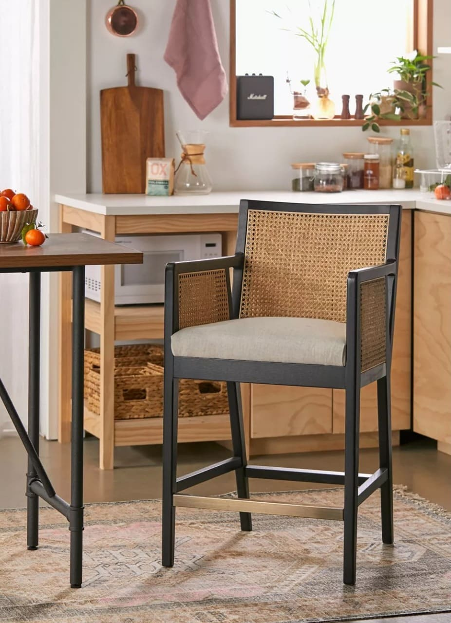Woven Cane Counter Stools