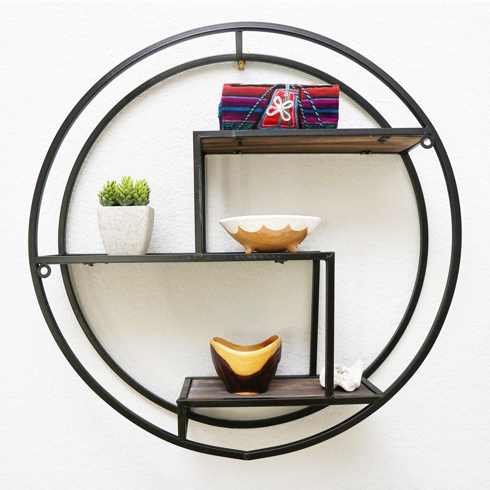 Round Iron Floating Shelf