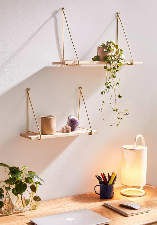 Minimal Modern Hanging Shelves