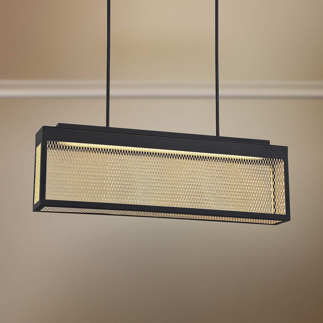 Black and Gold Mesh Pendant Light