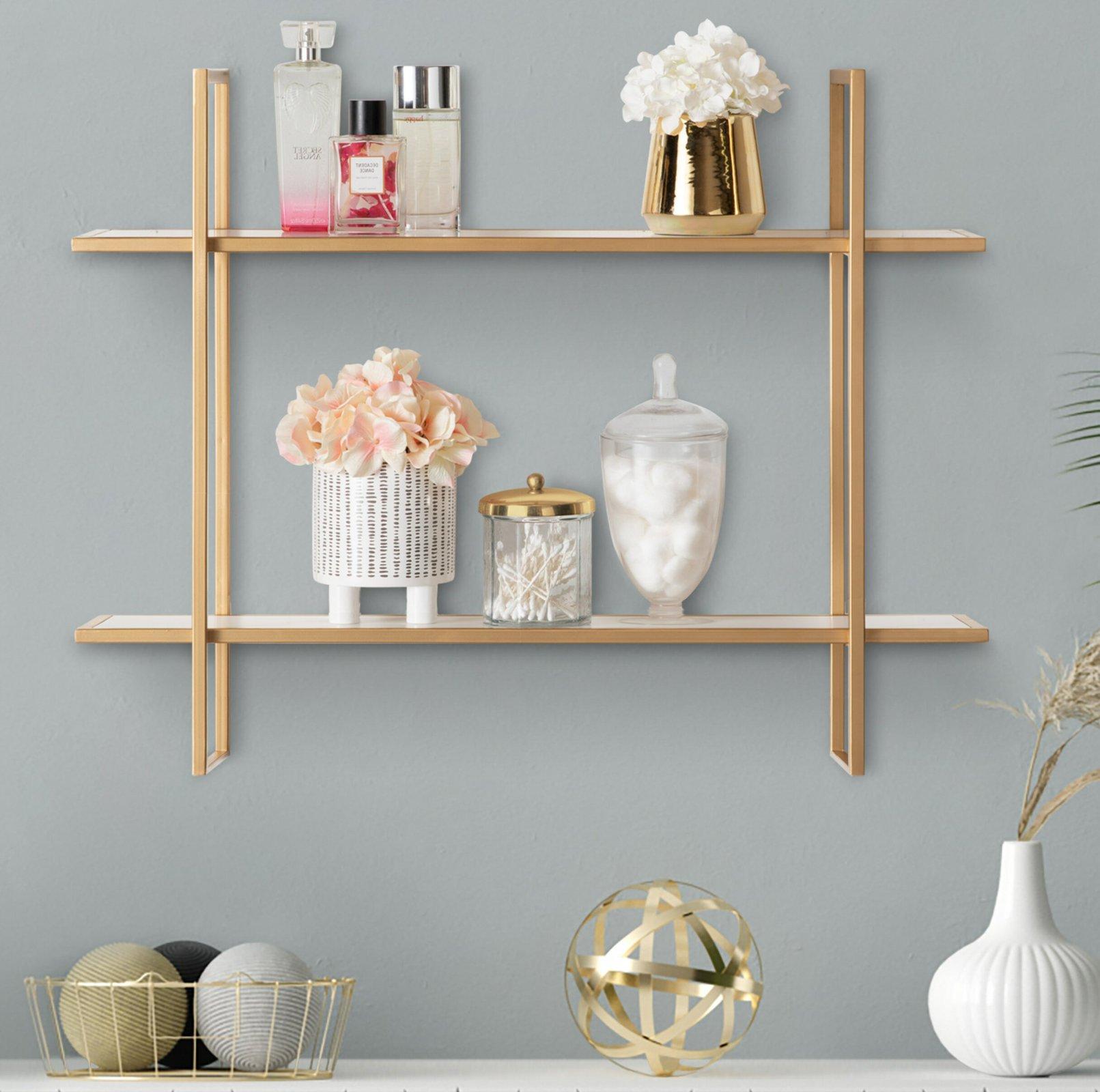 Glamorous Gold Wall Shelf
