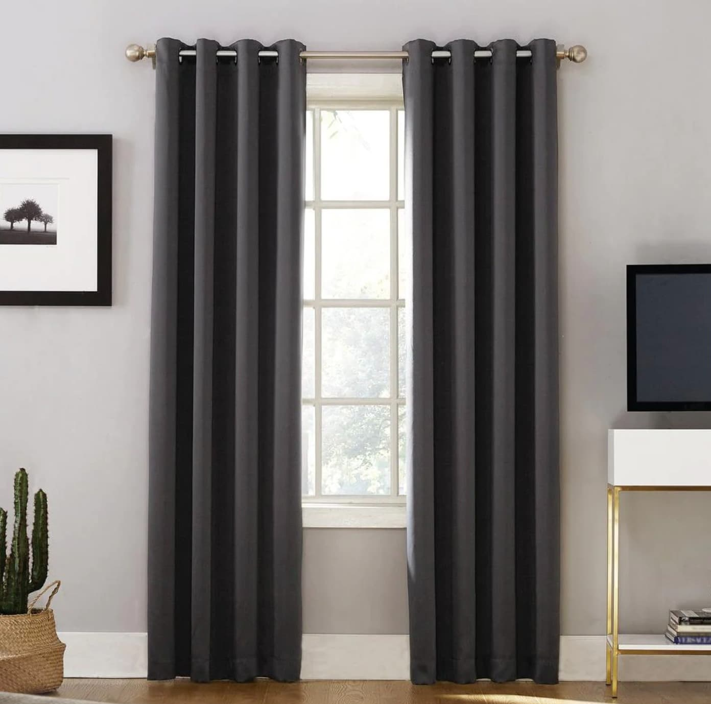 Stylish Coal Thermal Curtains