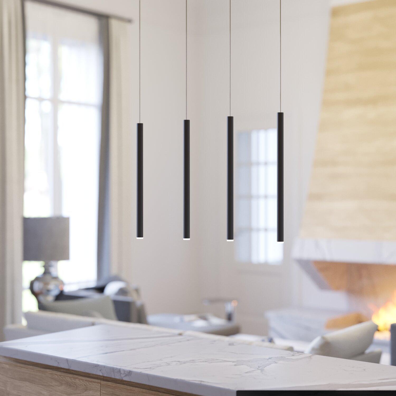 LED Four-Pendant Light