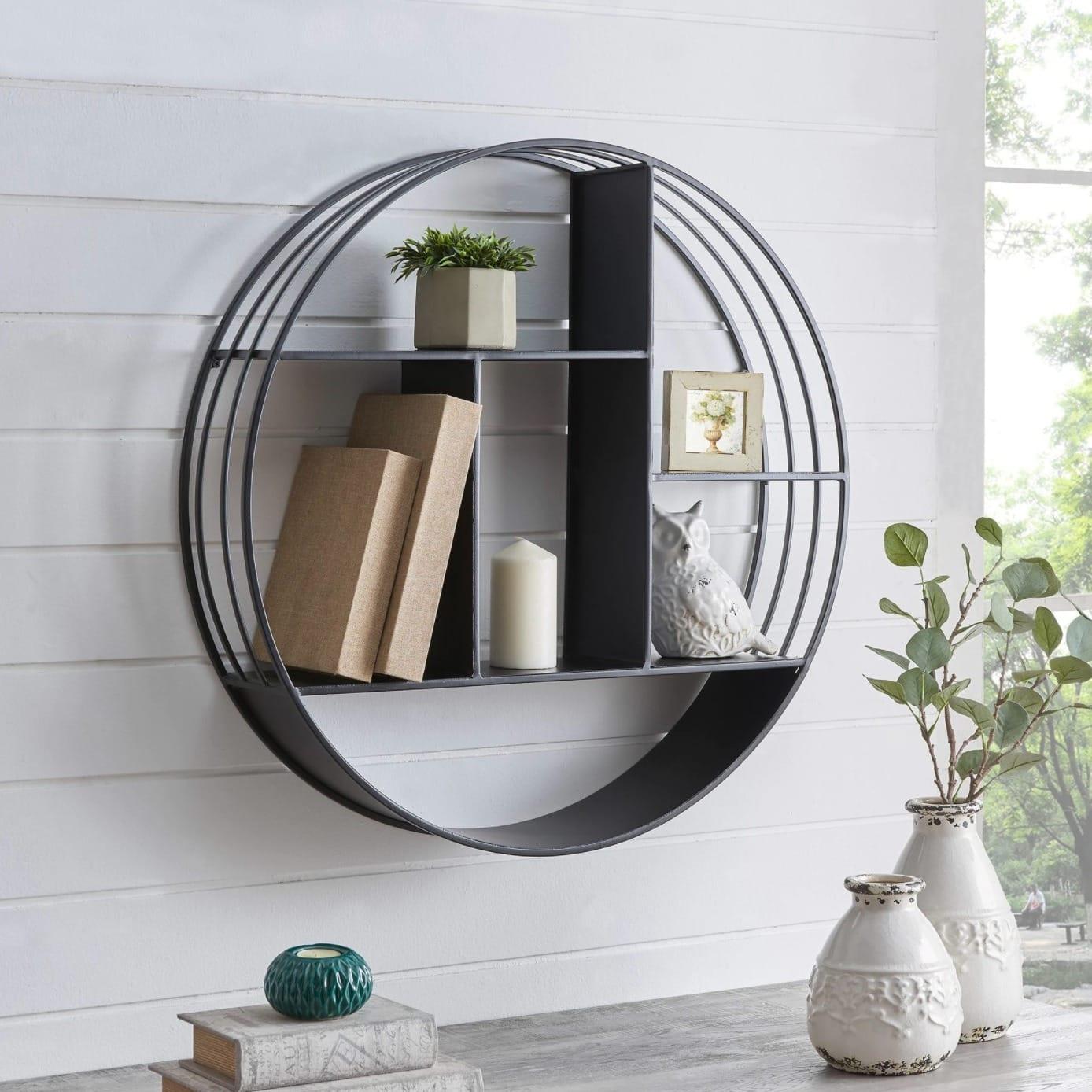 Circular Metal Industrial Shelf
