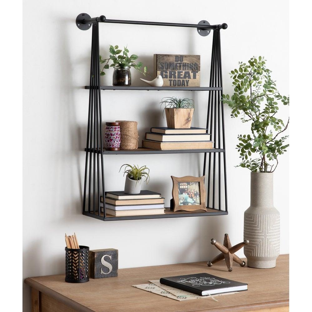 Stylish Black Hanging Shelf
