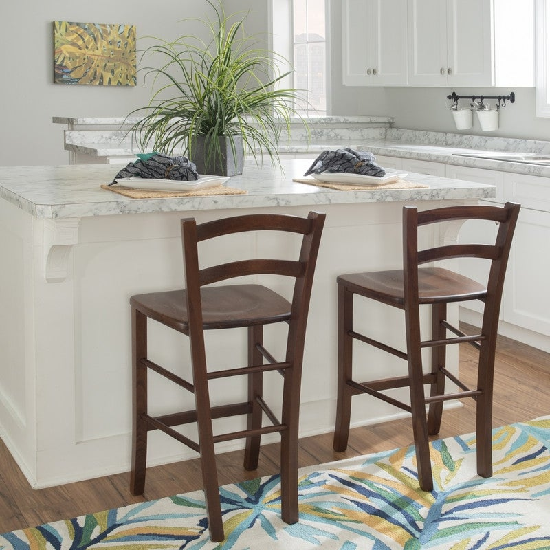 Traditional Wooden High Chairs for Kitchen Islands