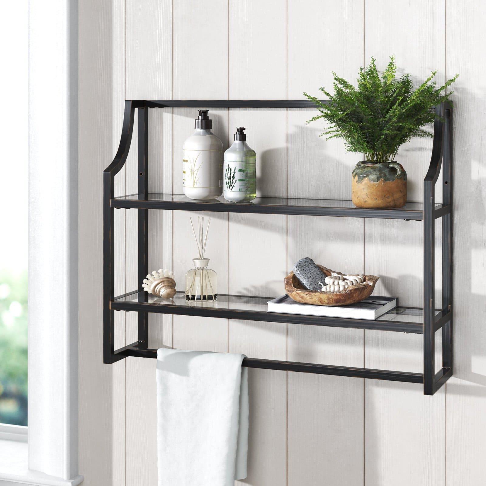 Chic Black Accent Shelf