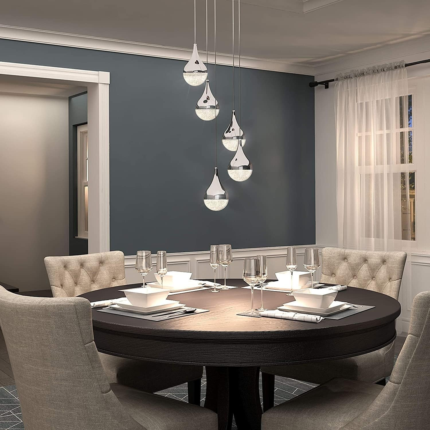 Stunning Crystal Chandelier for Kitchens