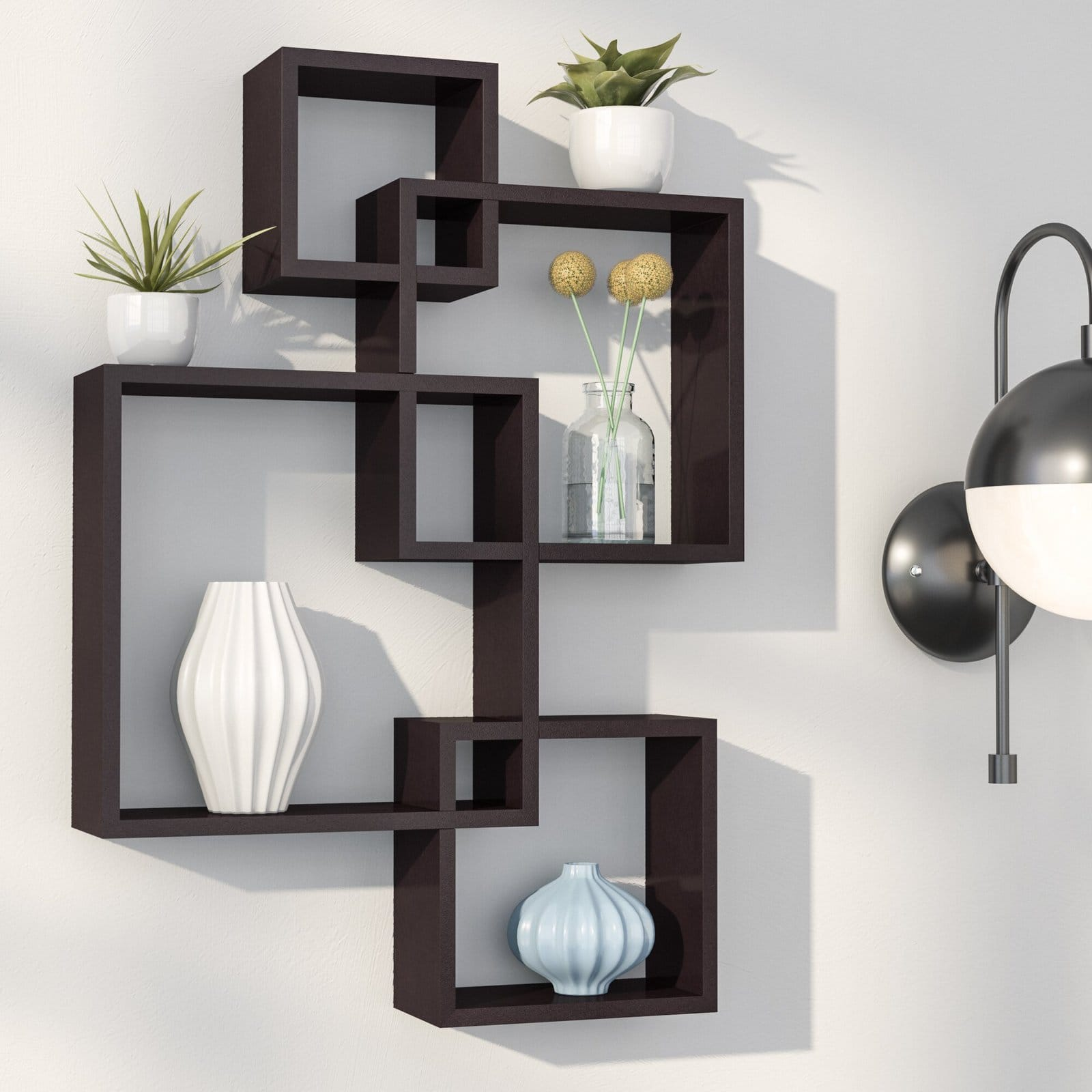 Black Square Accent Shelf