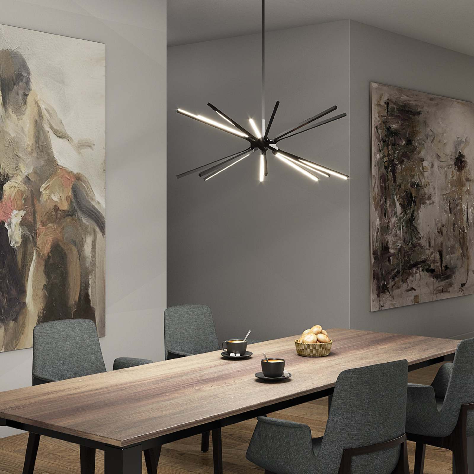 Modern Star-Shaped Kitchen Pendant