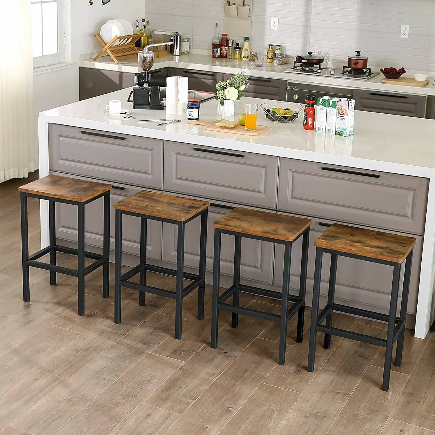Save Space with Compact Kitchen Island Bar Stools
