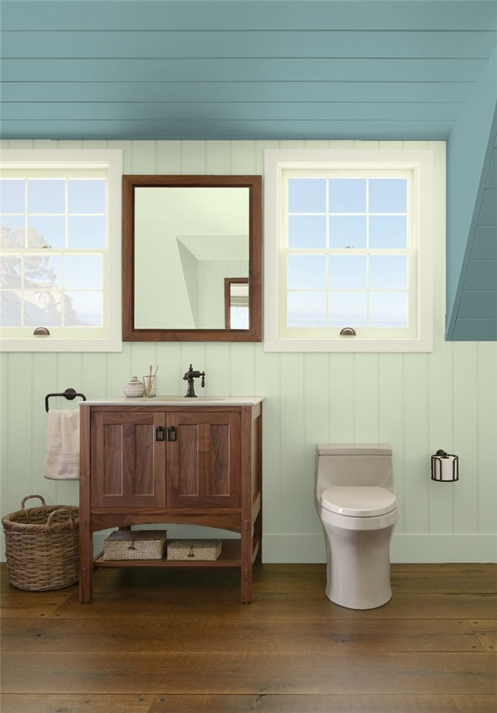 1 Bathroom in Budding Green by Benjamin Moore
