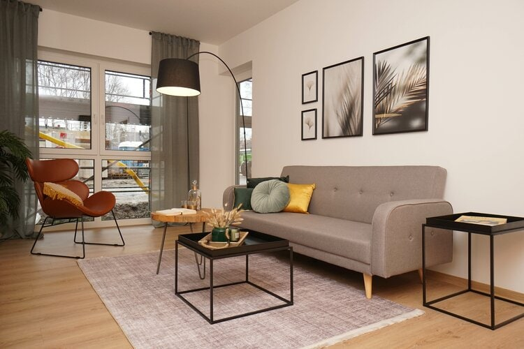 Combine Light-Grey Furniture With Light-Brown Wooden Floors