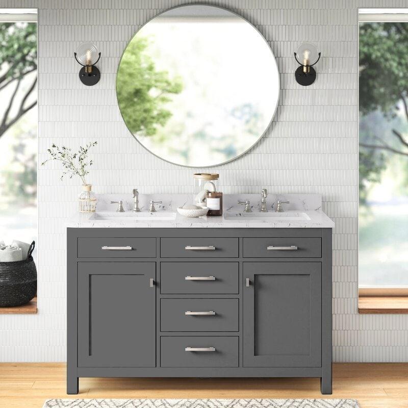 Go with a Narrower Vanity for Small Bathrooms