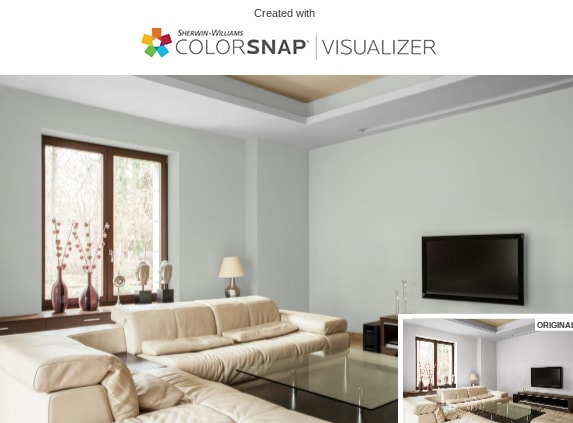 1 Living Room in Silver Strand by Sherwin Williams 1