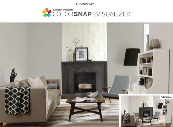 1 Repose Gray Living Room by Sherwin Williams