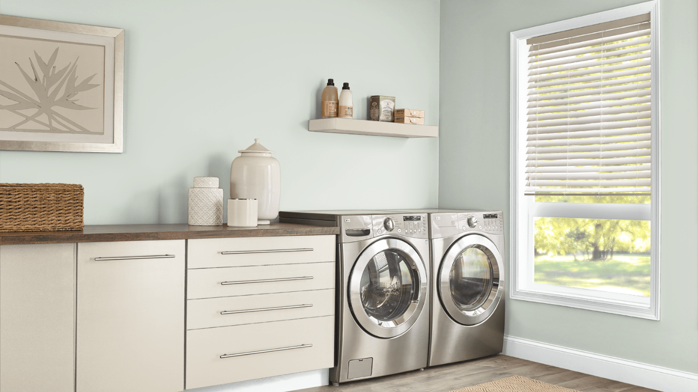 10 Laundry Room in Shy Green by Behr