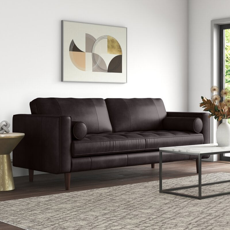 Mid-Century Grey and Brown Living Room