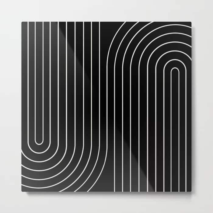 Add Flair to Your Minimalistic Kitchen With a Metal Line Art Print