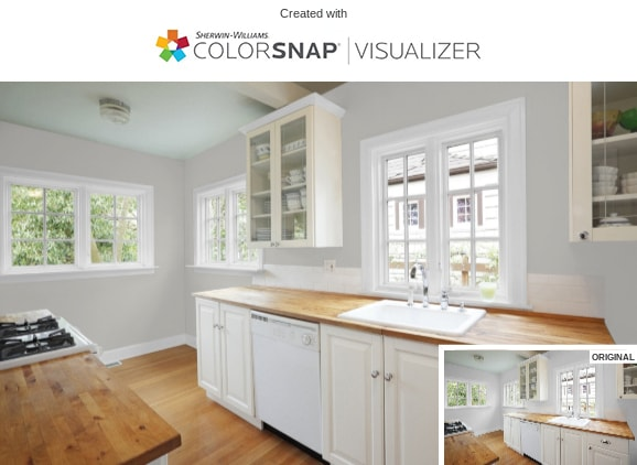 11 Kitchen in Light French Gray by Sherwin Williams