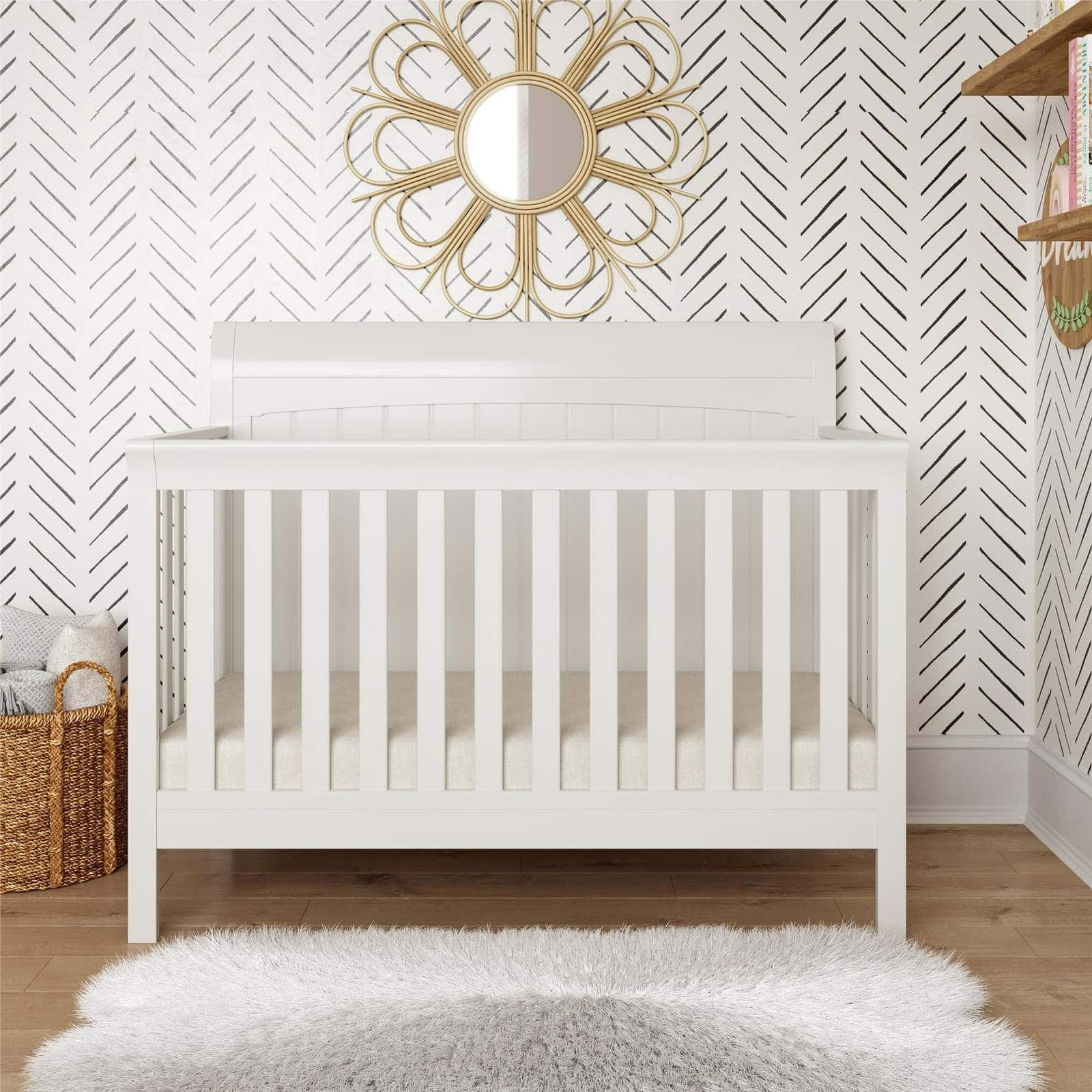 A Convertible Crib Sleigh Bed That Will Grow With Your Baby