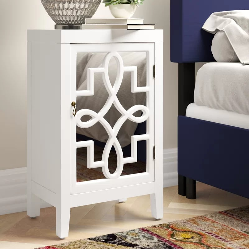 Stand Out With a Mirrored Front Nightstand
