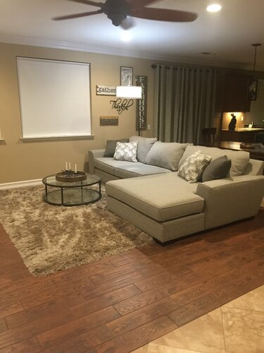 Brown Walls With Grey Furniture Is a Good Option, Too