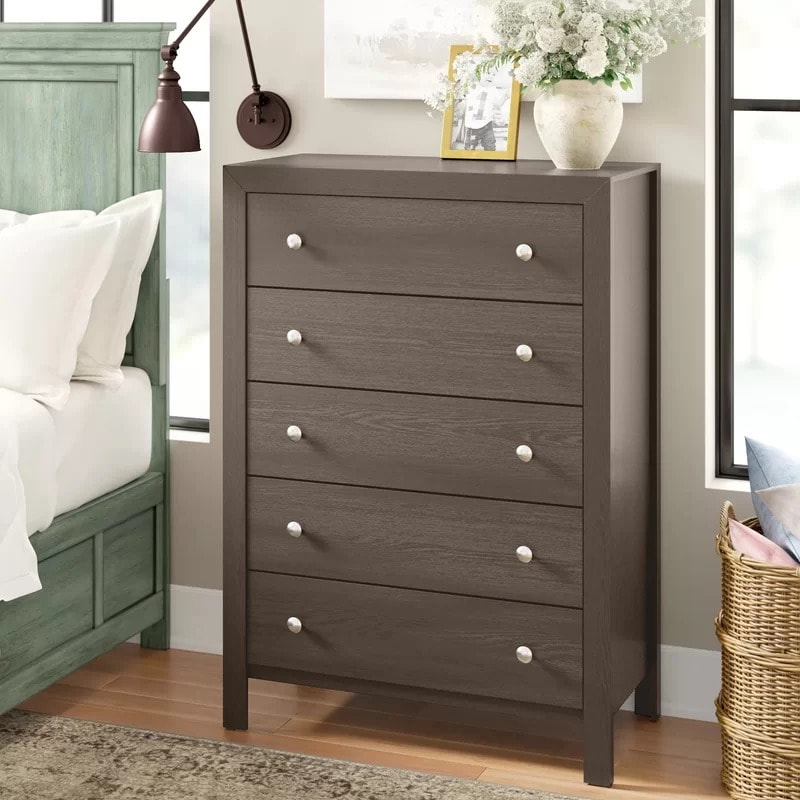 Use a Simple Chest of Drawers as a Tall Nightstand