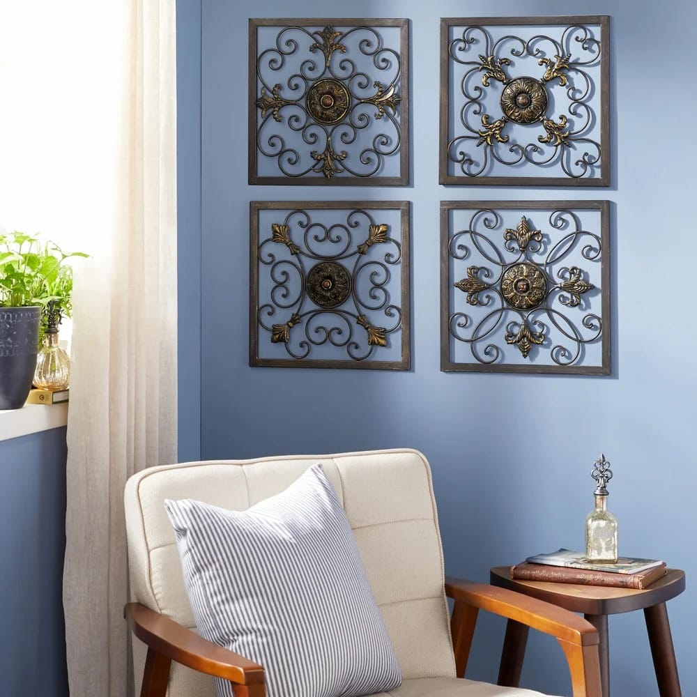 Go For a Rustic Aesthetic With a Metal Plaque Set