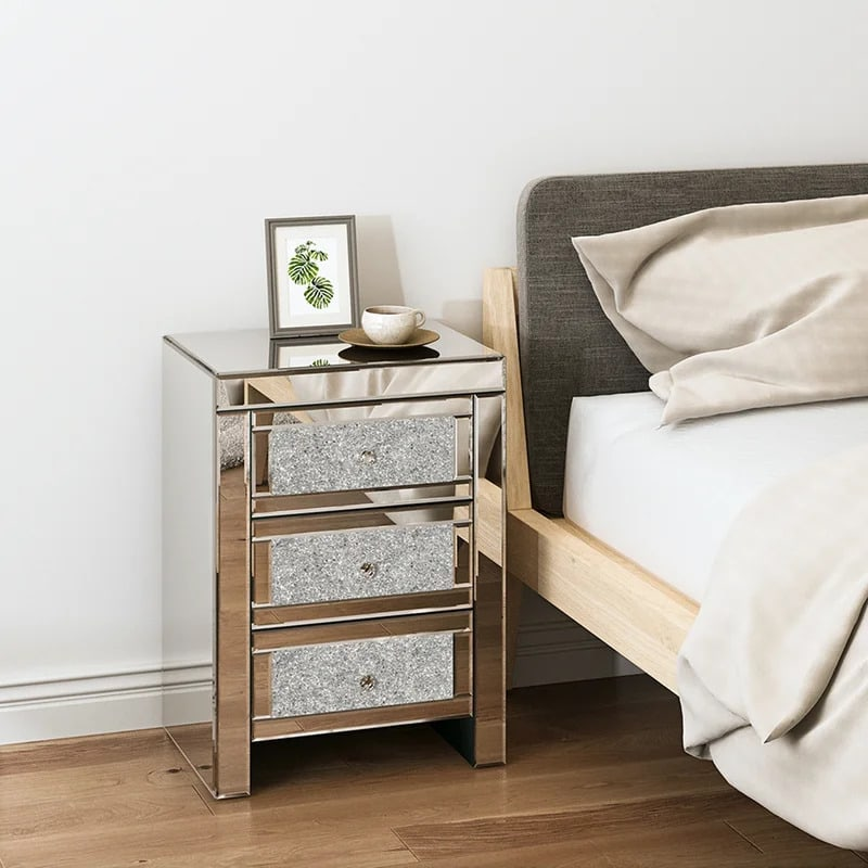 Add a Touch of Luxury With a Bedazzled Nightstand