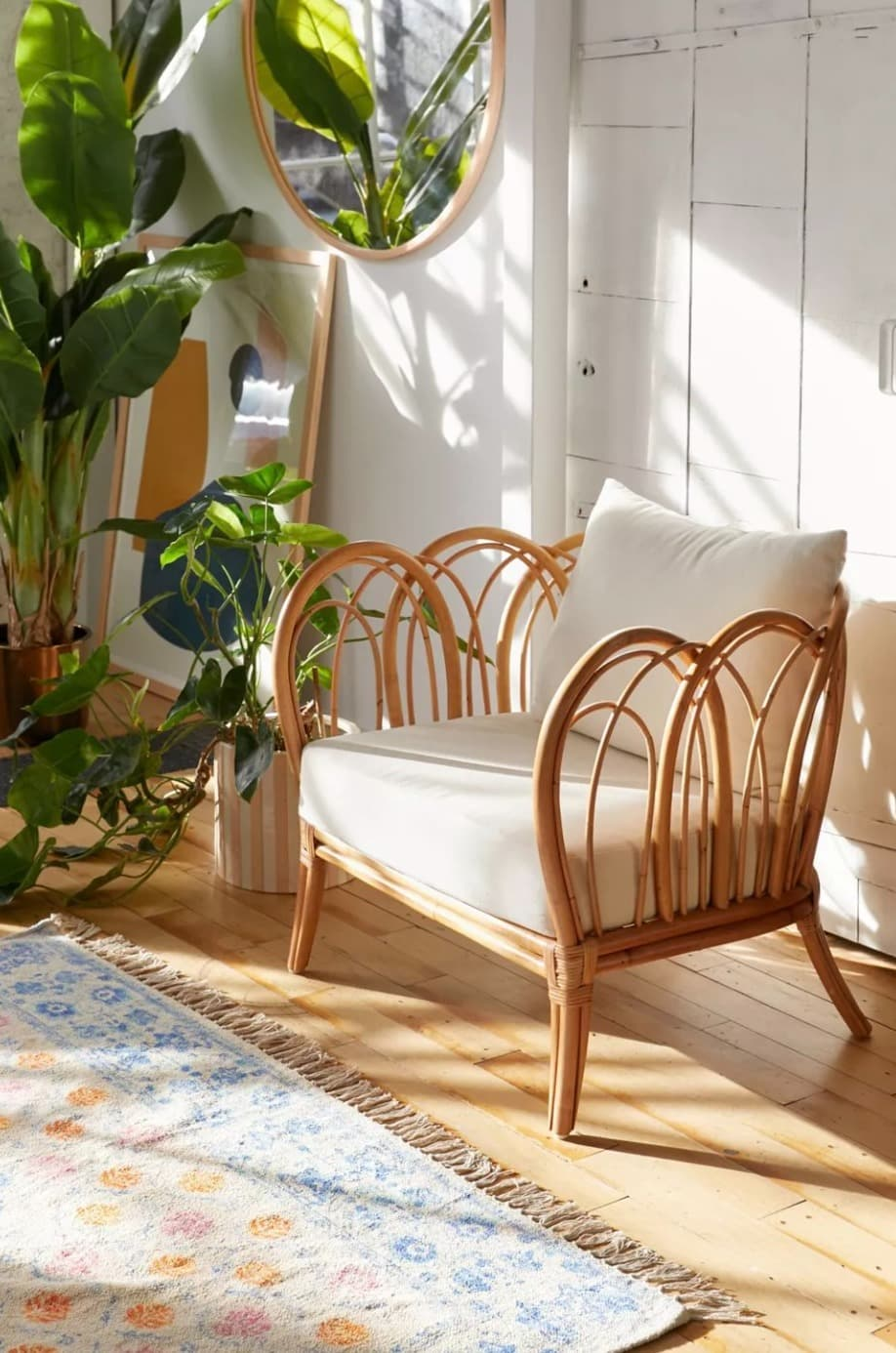 Add a little Natural Texture with this Rattan Chair