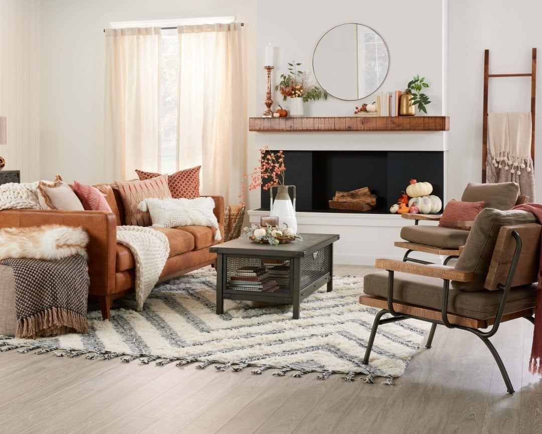 Place Brown Furniture on Grey Wooden Floors