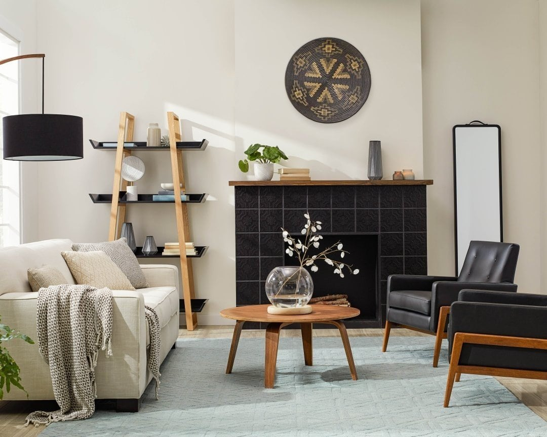 Add Dark Details to Your Grey and Brown Living Room