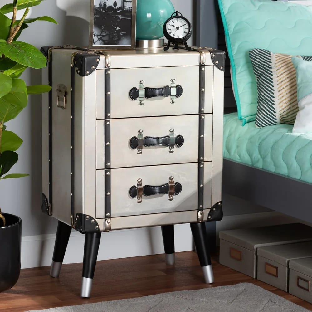 Go Full Vintage With an Antique Trunk-Style Nightstand