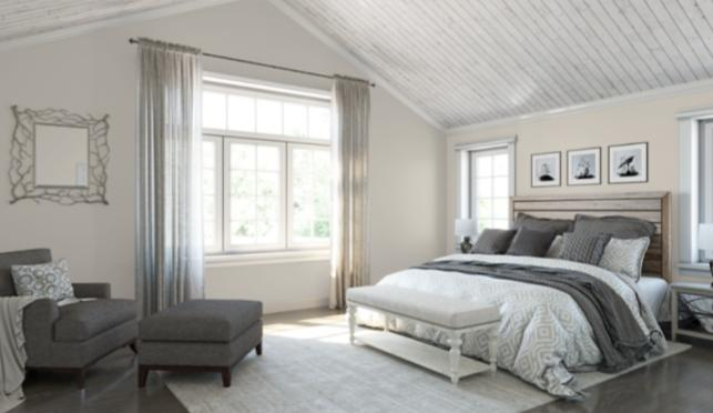 2 Agreeable Gray in the Bedroom