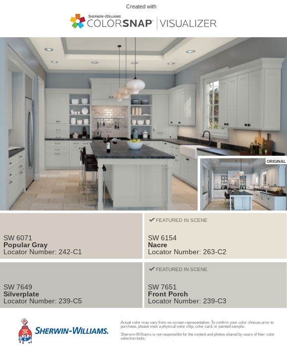2 Kitchen in Silverplate by Sherwin Williams