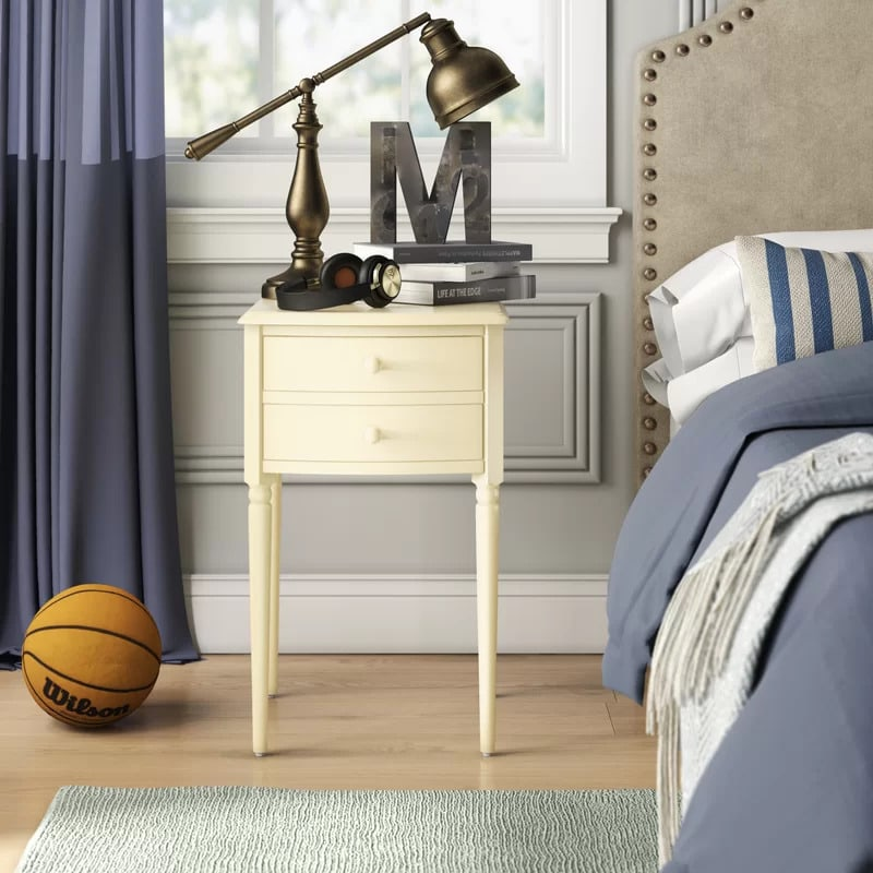Use a Simple Cream-Colored Nightstand for a Classic Look