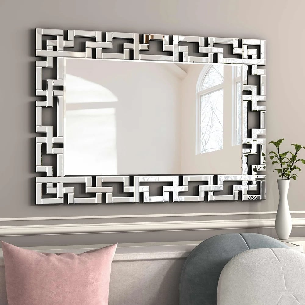 Choose a Greek Square Art Framed Mirror for a Unique Look
